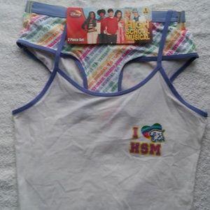 Girls High School Musical 2pc Pantie/Shirt set.